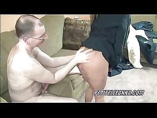 Petite Leeanna pounds a cock into her hot twat
